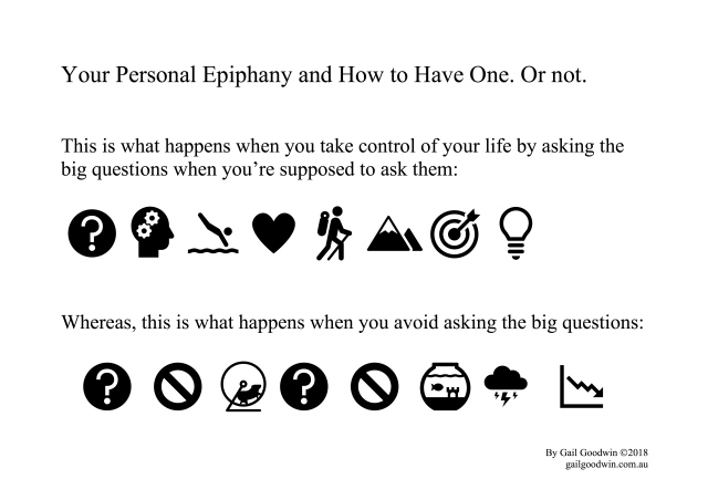 Ask life's big questions. Have a personal epiphany.